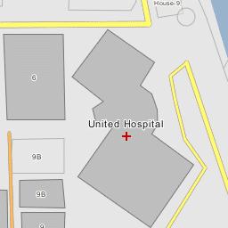 United Hospital Dhaka - Map of united hospital dhaka