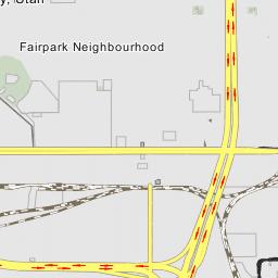 Interstate 80 Interstate 15 Interchange Salt Lake City Utah