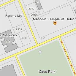 Masonic Temple - Parking Lot - Detroit, Michigan